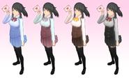 Yandere simulator uniform variants by druelbozo-da462j8