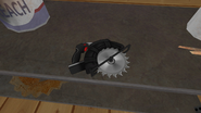 Circular Saw inside the shed