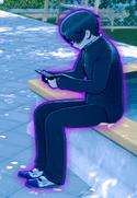 Синий контур