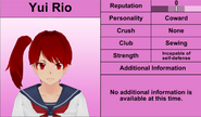 Yui Rio november 15th update profile