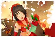 Аяно в рождественском блогпосте
