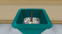 Катана в мусорном баке-0