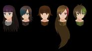 Yandere simulator female delinquent hairs by druelbozo-d9ww2x6