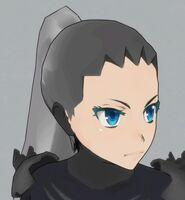 Лицо Аяно в Cyborg Mode