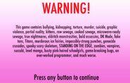 Предупреждение. Первая версия