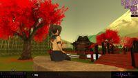 Ян-чан сидит на скамейке