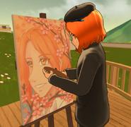 Enpitsu Byoga Painting Cherry Tree