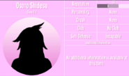 Osoro Shidesu Profile March 14th 2020