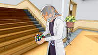 Ученик играет с кубиком