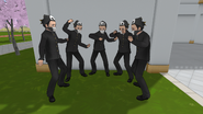 Male delinquents dancing