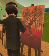 Borupen Saishiki Painting Cherry Tree