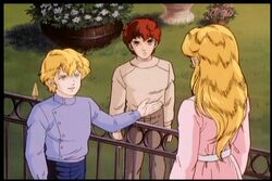 Reinhard, Kircheis and Annerose from their first meeting