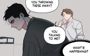 Is Beom speaking to Dowon - Full Volume