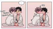 Gyoon and Jihye kissing - Sign