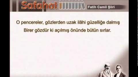 Fatih Camii Şiiri / Osmanlıca