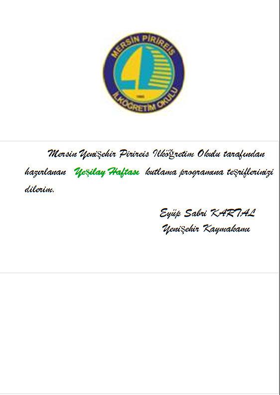 Yeşilay Haftası/2011 Programı