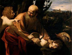 Kurban Sacrifice of Isaac-Caravaggio (Uffizi).jpg