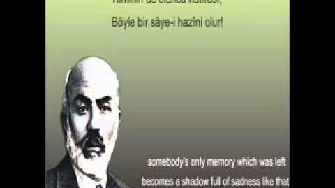 Bir Resmin Arkasına Yazılmışdı - Mehmet Akif Ersoy - Safahat