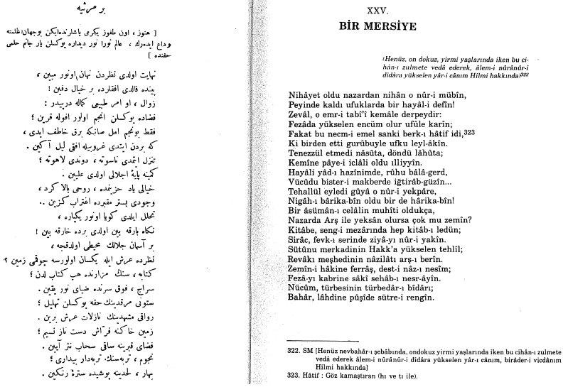Bir Mersiye - Mehmet Akif Ersoy - Safahat