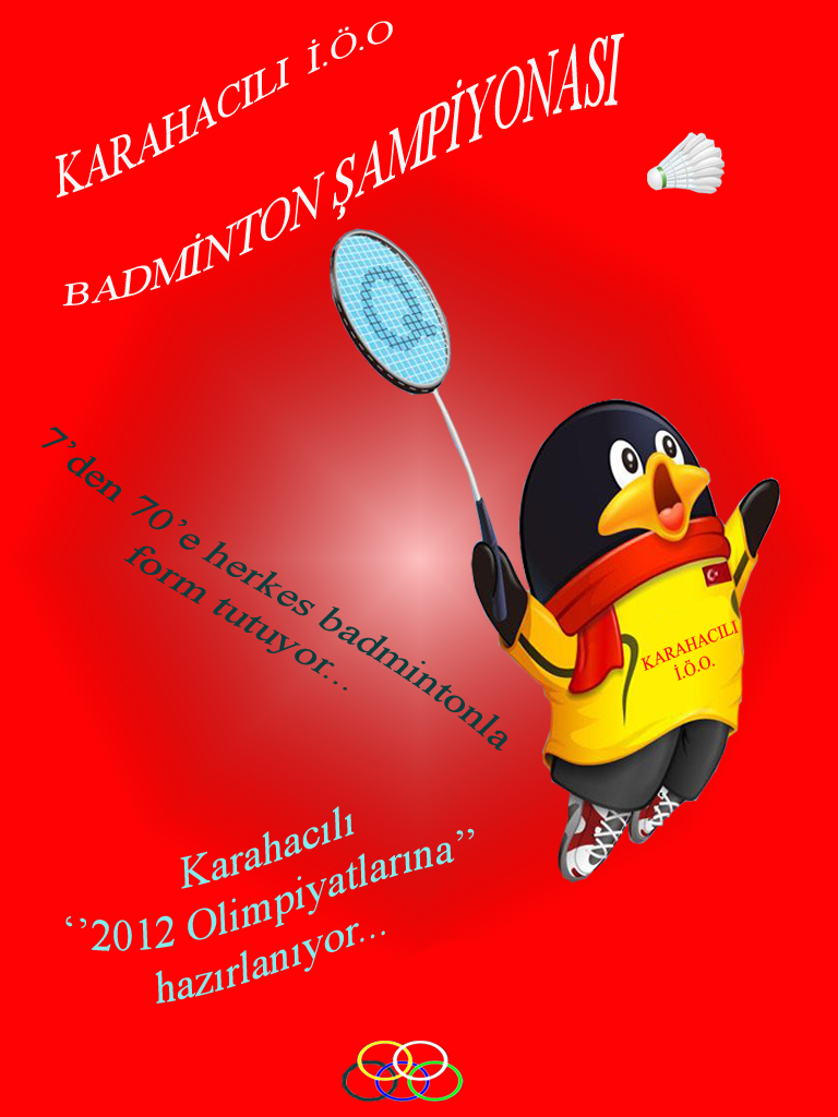 Karahacılı'da badminton