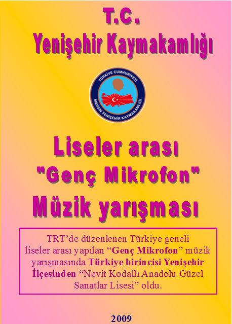 """Eğitim/Türkiye Liseler Arası Müzik Yarışması """"Genç Mikrofon""""/A4"""