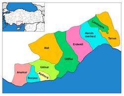 Mersin Siyasi Haritası