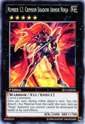 Number 12: Crimson Shadow Armor Ninja