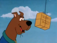 Scooby chasing Scooby Snacks