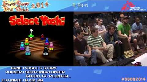 SGDQ 2014 Yoshi's Story Speed Run in 22 30 All Melons by soothingplumtea SGDQ2014
