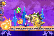 Bowser fighting Yoshi