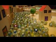 10000 marbles rolling on a giant marble run Part 2