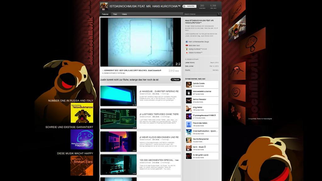 IstdasnochMusik Kanal Screenshot 2012.jpg