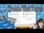 Scambaiting - Walmart gift card Scammer wasted 3 hours of his time!!