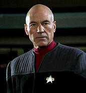 Patrick Steward as Jean-Luc Picard in 1996's Star Trek First Contact