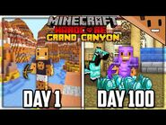 I Survived 100 Days in the GRAND CANYON in Hardcore Minecraft...