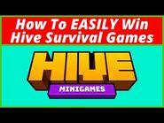 How To EASILY Win Hive Survival Games! (Mobile-PC-MCPE) -PVP- - Bell Cranel