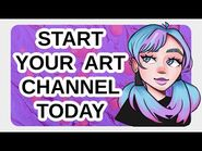 How to start a THRIVING art commentary channel