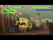 The SpongeBob Movie- Sponge Out of Water (2015) Food Fight with healthbars