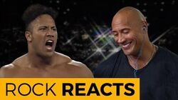 The_Rock_Reacts_to_His_First_WWE_Match_20_YEARS_OF_THE_ROCK