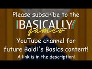 Future Baldi's Basics Content Will Be on the Basically Games YouTube Channel!