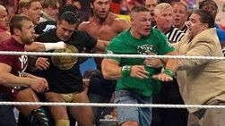 John_Cena_and_Brock_Lesnar_get_into_a_brawl_that_clears_the_entire_locker_room_Raw,_April_9,_2012