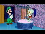 (Waxonator) Mama Luigi drops by Squidwards house-2