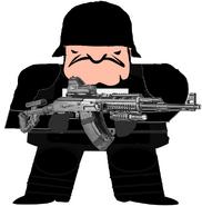 UTTP riot gear (AK47 Gunner)