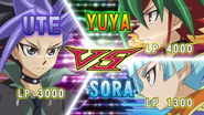 Arc V 036 Ute VS Yuya and Sora