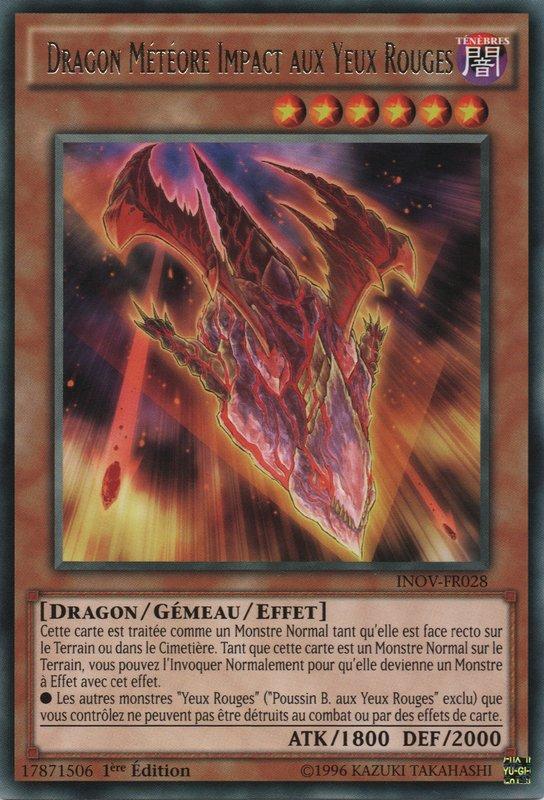 Dragon Météore Impact aux Yeux Rouges