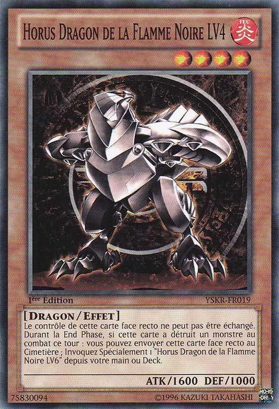 Horus Dragon de la Flamme Noire LV4