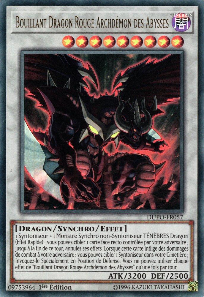 Bouillant Dragon Rouge Archdémon des Abysses