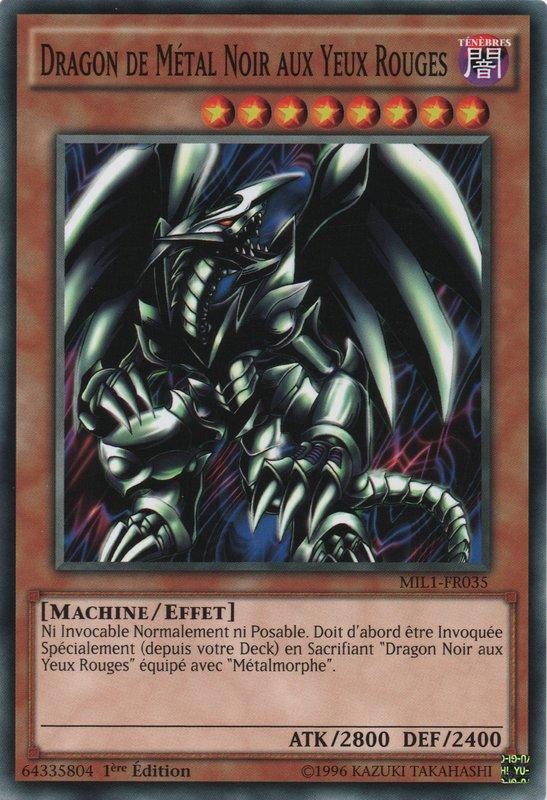 Dragon de Métal Noir aux Yeux Rouges