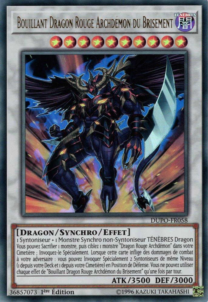 Bouillant Dragon Rouge Archdémon du Brisement
