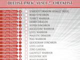 Duelist Pack -Yusei 2- checklist